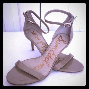 Sam Edelman tan Patti ankle strap heels